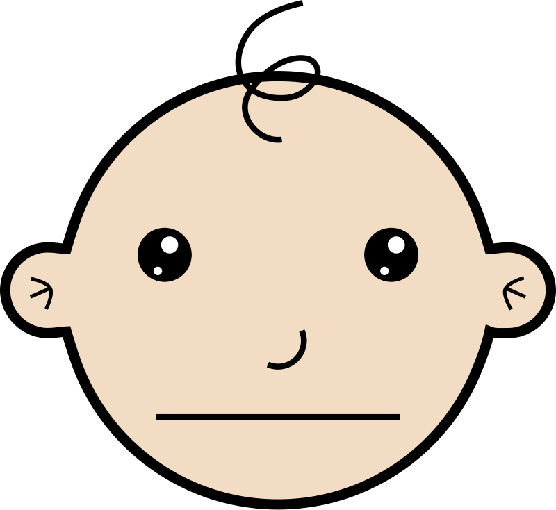free vector Serious baby