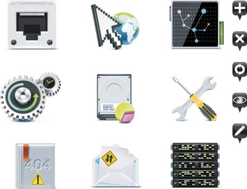 free vector Server theme icon vector