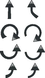 free vector Set Of Black Arrows clip art