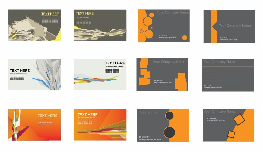 free vector Set of Business Cards Vector