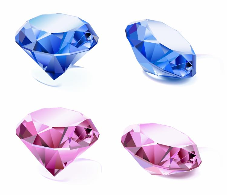 free vector Set of diamonds