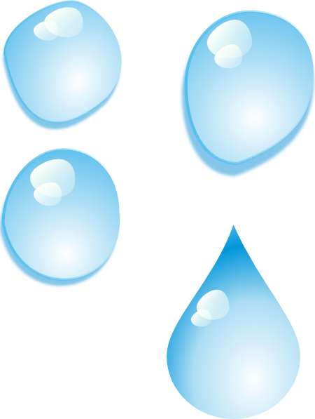free vector Set Of Water Drops clip art