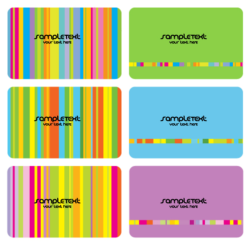 Seven Colors Of The Color Card Template Card (7124) Free