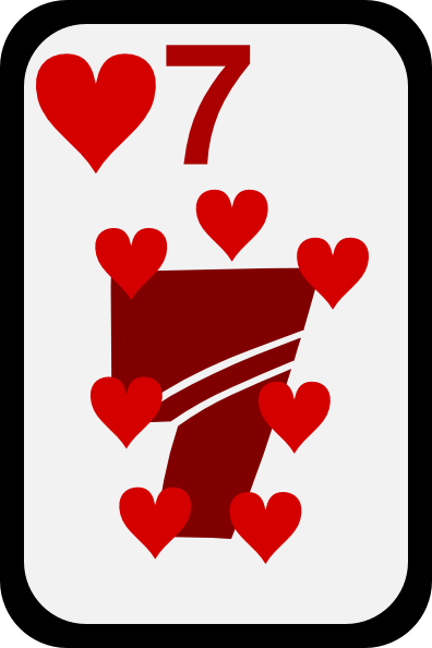 free vector Seven Of Hearts clip art