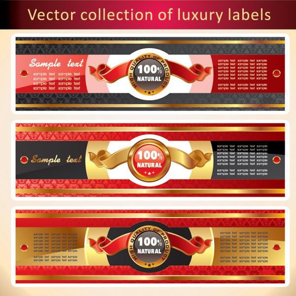 free vector Several banners banner vector