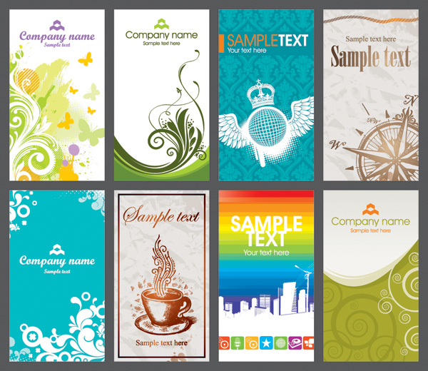free vector Several card template vector