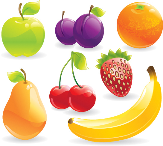 free vector Several common fruits vector