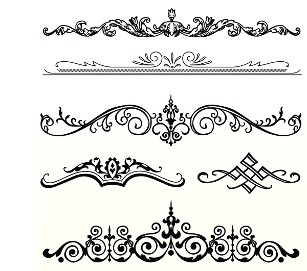 free vector Several europeanstyle lace pattern vector
