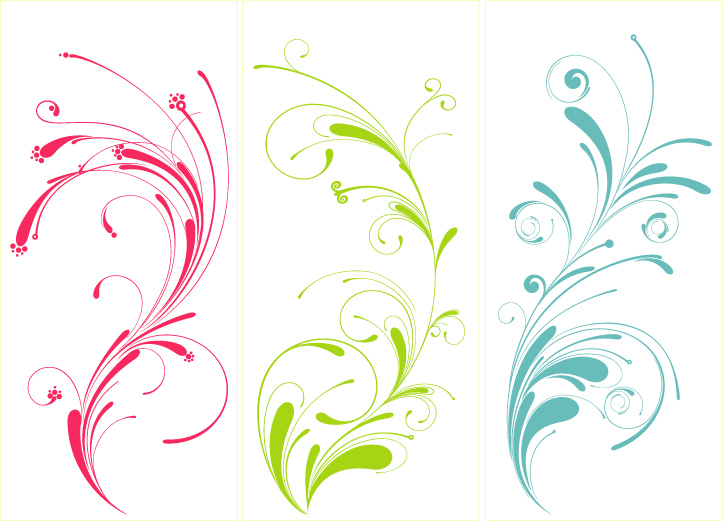free vector Several practical pattern