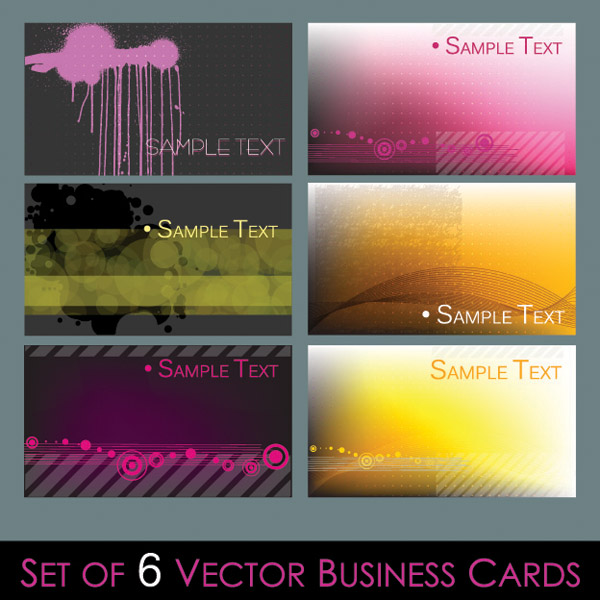 free vector Several simple vector graphics card background