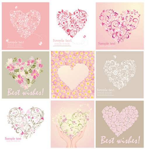 free vector Several very lovely valentine day vector
