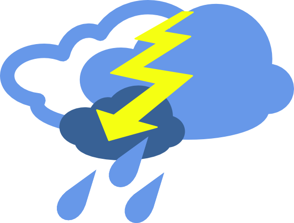 free vector Severe Thunder Storms Weather Symbol clip art