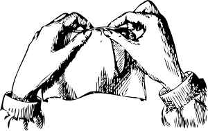free vector Sewing Hands clip art