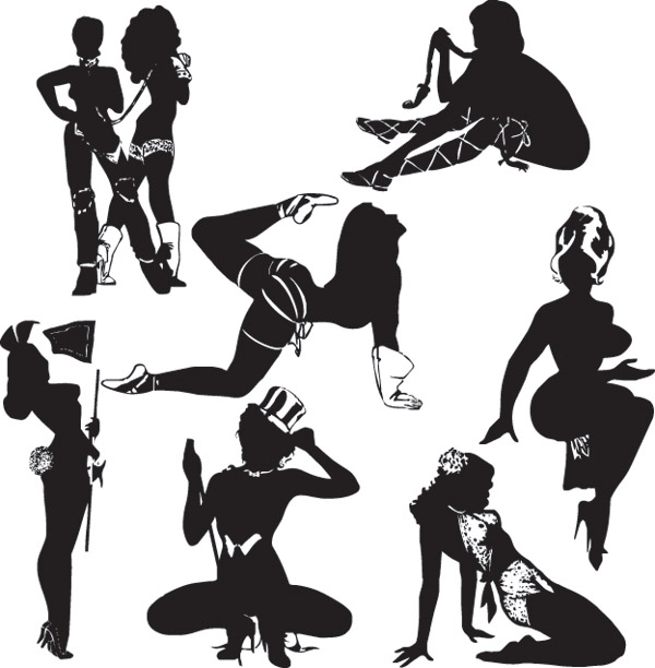 free vector Sexy female silhouette vector