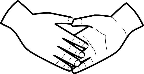 free vector Shaking Hands clip art