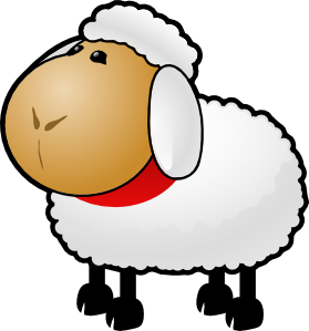sheep clip art free vector 4vector rh 4vector com