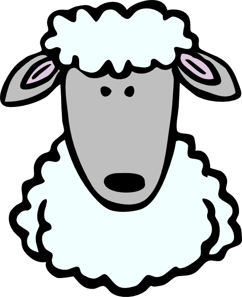 free vector Sheep Head clip art