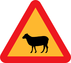 free vector Sheep Roadsign clip art
