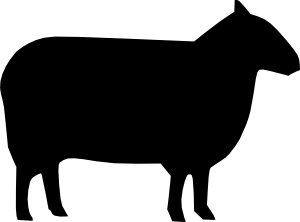 Sheep Silhouette clip art Free Vector / 4Vector