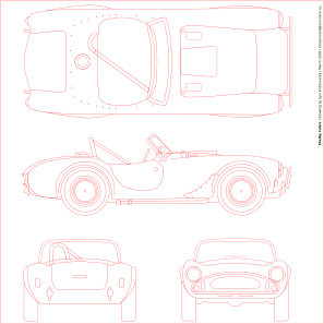 free vector Shelby Cobra Blueprint clip art