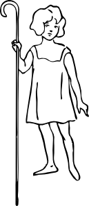 free vector Shepherd Girl clip art
