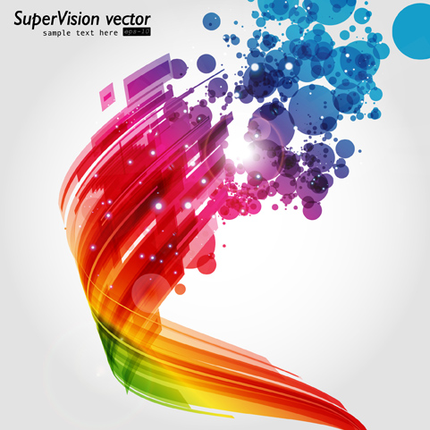 free vector Shine abstract background vector visual