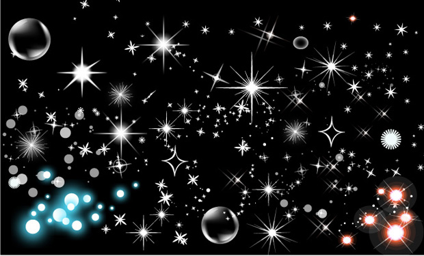 free vector Shining star bubbles vector