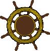 free vector Ship Steering Wheel clip art