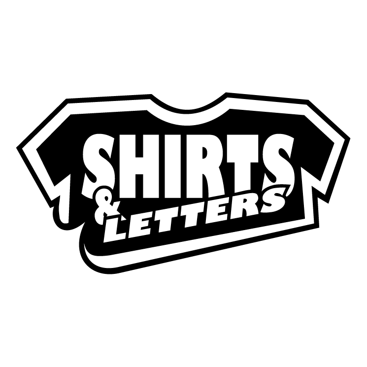 free vector Shirts letters