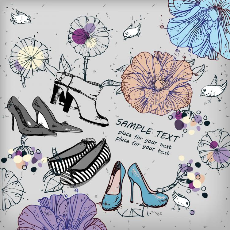 free vector Shoes fashion illustrator 01 vector