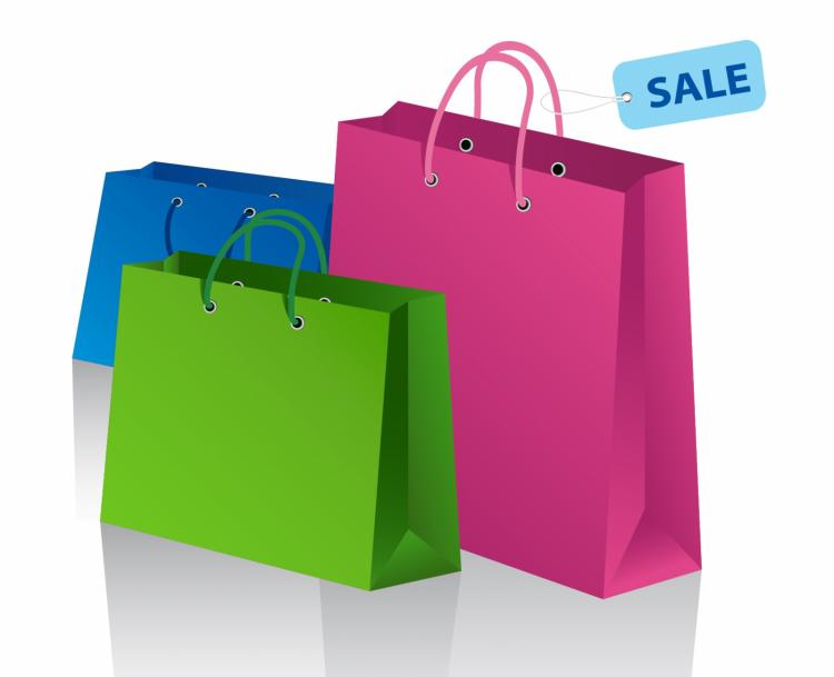 Shopping bags Free Vector / 4Vector