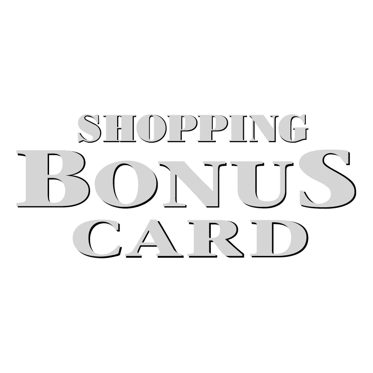 free vector Shopping bonus card