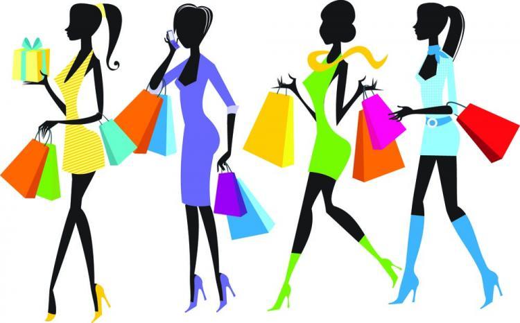 free vector Shopping girl 03 vector
