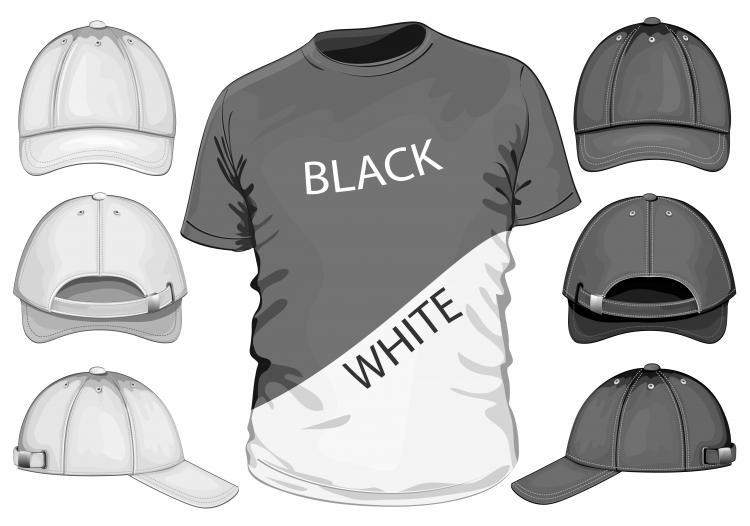 Shortsleeve tshirt template 04 vector Free Vector / 4Vector