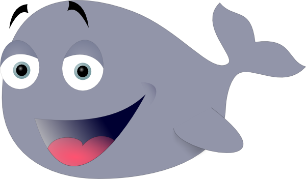 free vector Sicabol Funny Whale clip art