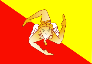 free vector Sicilian Flag clip art