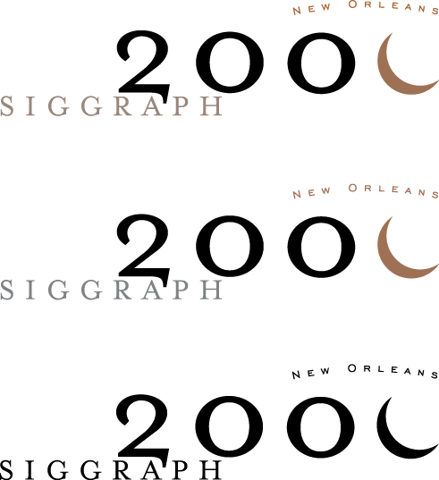 free vector Siggraph 2000 logos