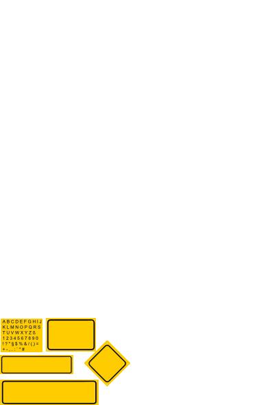 free vector Sign Builder Set clip art