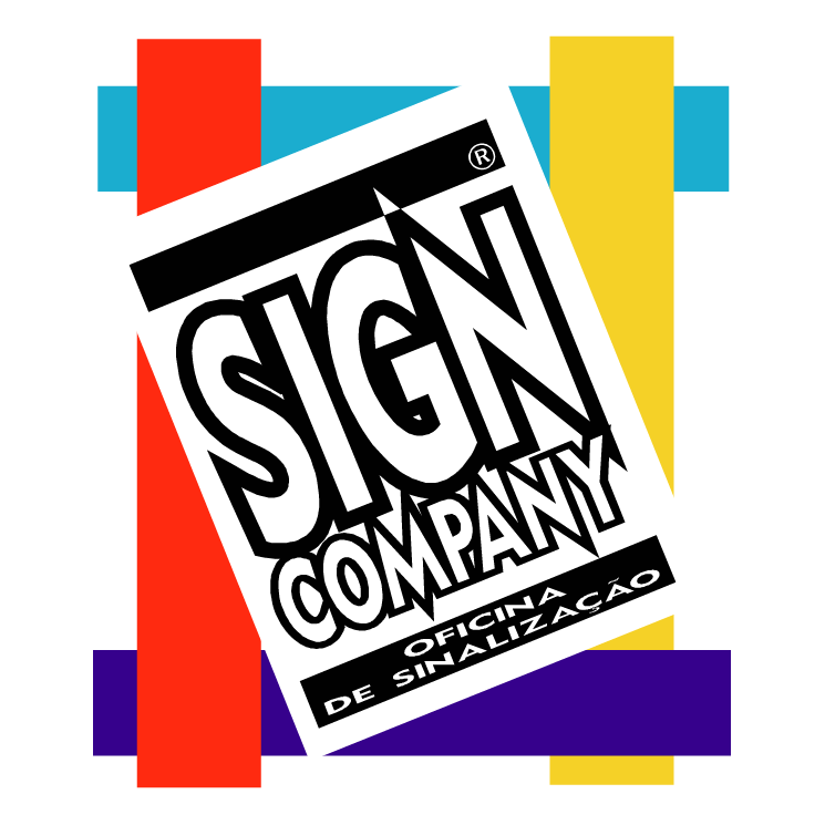 free vector Sign company