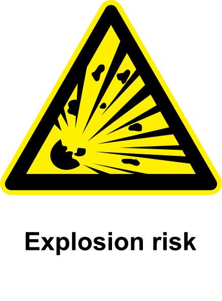 free vector Sign Explosion Risk clip art