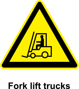 free vector Sign Fork Lift Trucks clip art