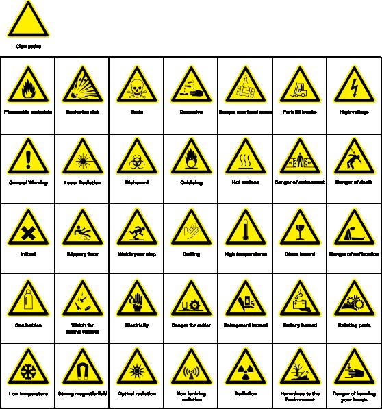 free vector Sign Hazard Warning clip art