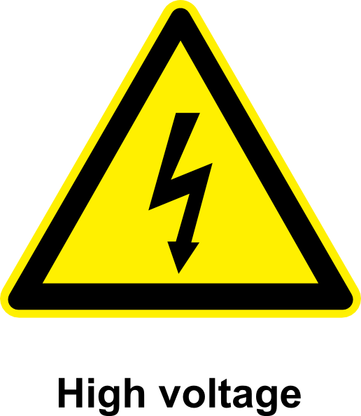 free vector Sign High Voltage clip art