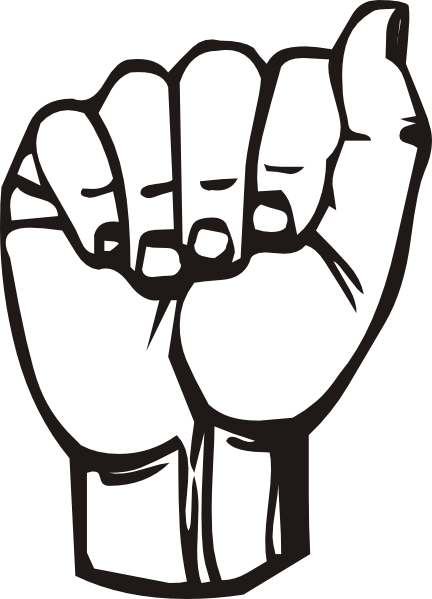 free vector Sign Language A clip art