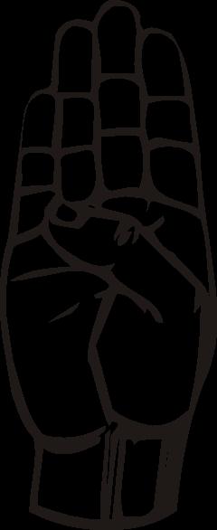 free vector Sign Language B clip art
