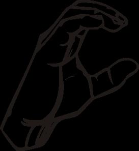 free vector Sign Language C clip art