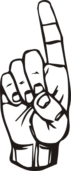 free vector Sign Language D Finger Pointing clip art