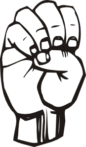 free vector Sign Language E clip art