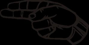 free vector Sign Language H clip art
