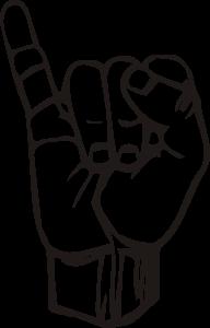 free vector Sign Language I clip art